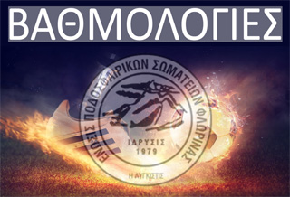 Βαθμολογίες ΕΠΣ Φλώρινας