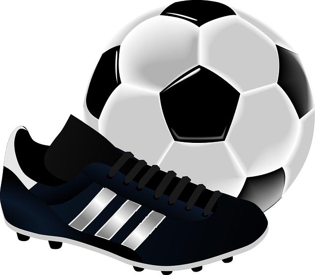 αθλητικό παπούτσι και μπάλα